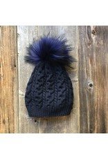 Get the Goods Get the Goods Cashmere Knit Hat with Fur Pom