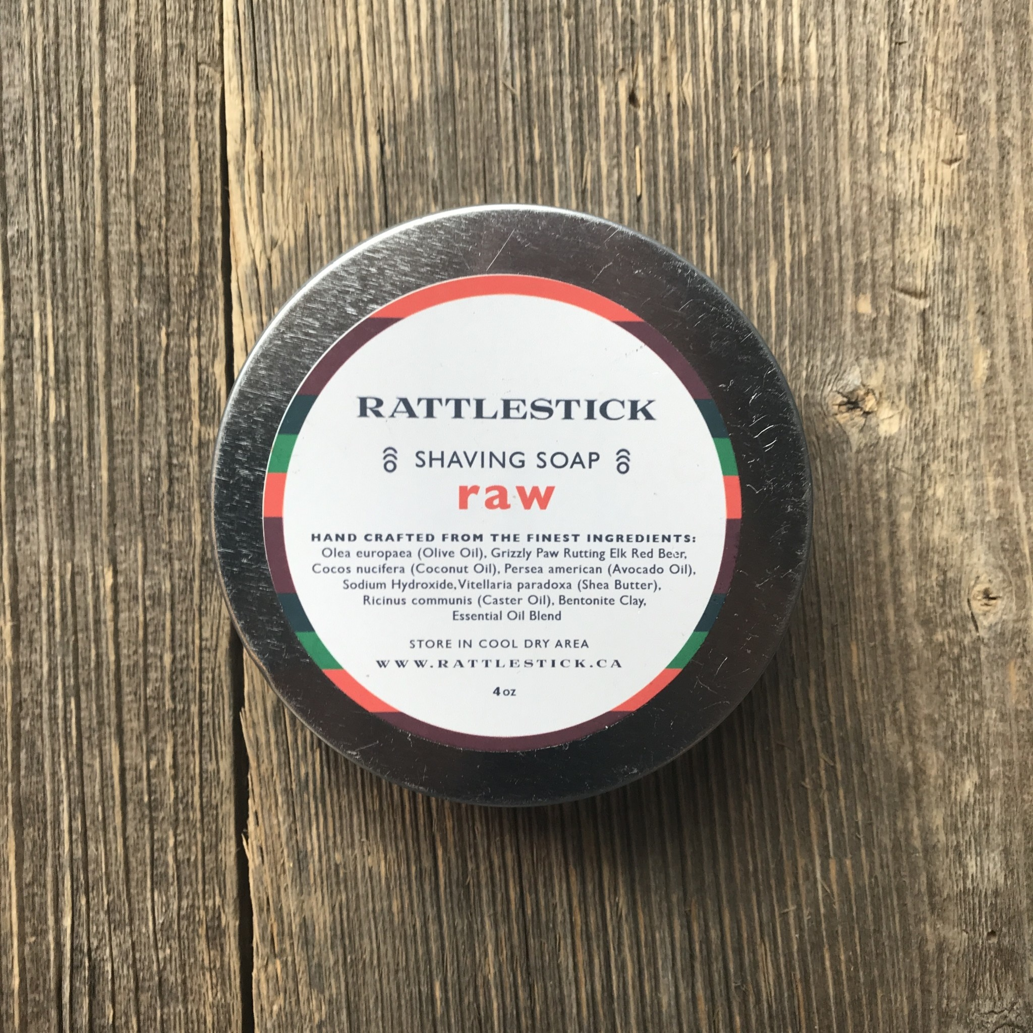 Rattlestick All Natural Hand Made Beer Shaving Soap