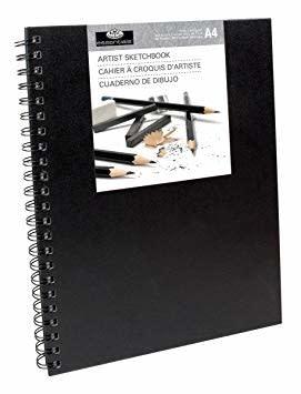 Royal & Langnickel Sketchbook Large - Black Cover