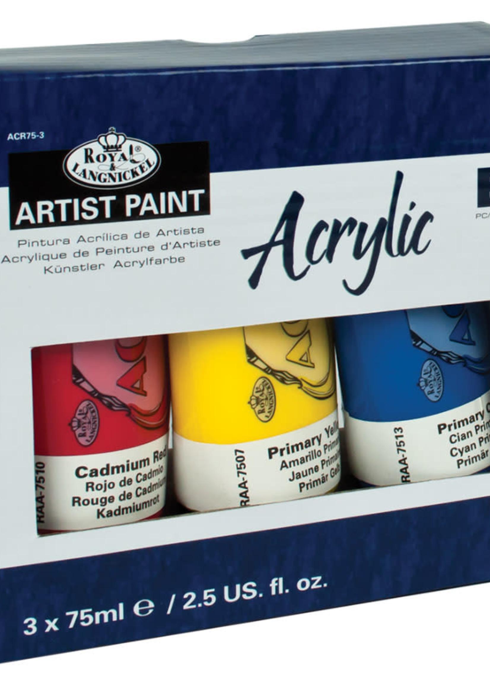 Royal Langnickel Royal & Langnickel Arcylic Paint Tubes (3 pc)