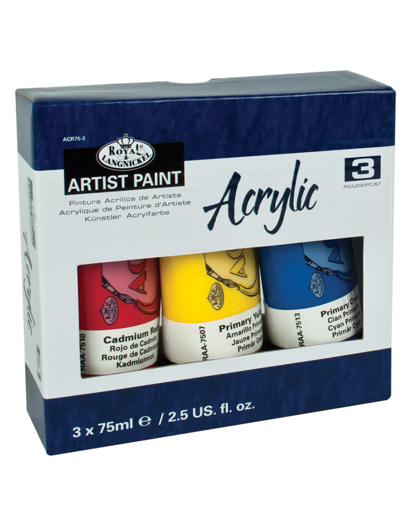 Royal Langnickel Royal & Langnickel Arcylic Paint Tubes (3 pc)