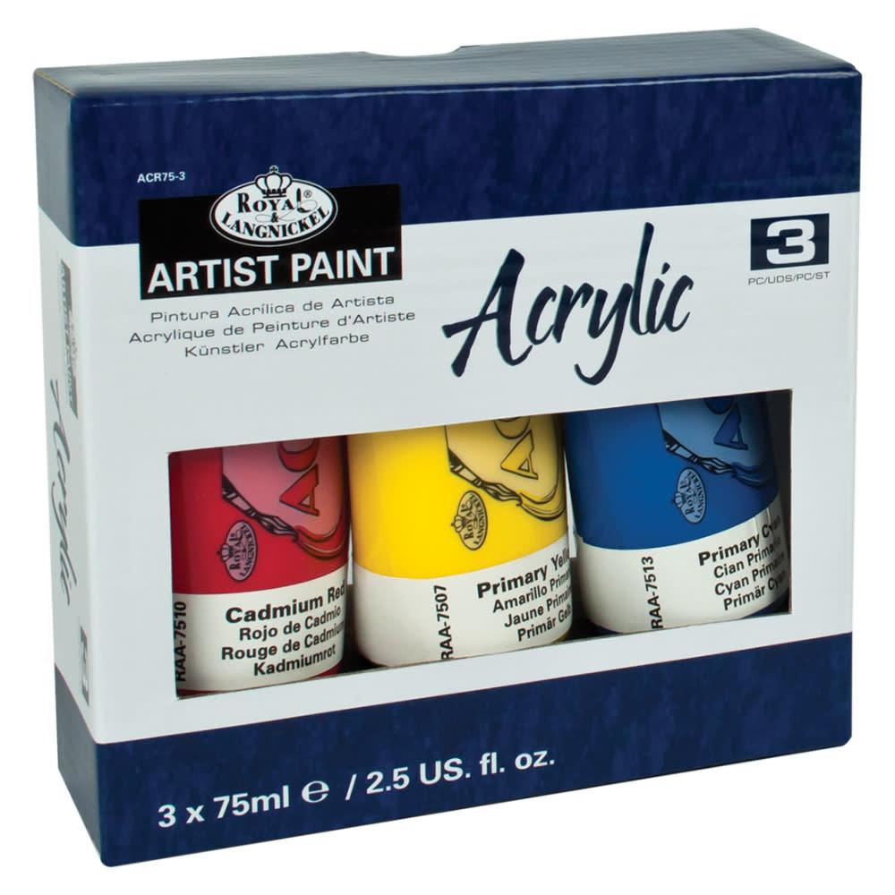 Royal & Langnickel Arcylic Paint Tubes (3 pc)