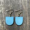 Beautiful Hands Half Oval Earrings
