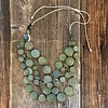 Beautiful Hands Circle Necklace Wood 4-rows