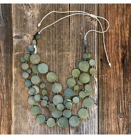 Beautiful Hands Beautiful Hands Circle Necklace Wood 4-rows