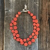 Beautiful Hands Circle Necklace Wood 2-rows