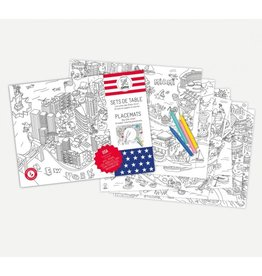 OMY OMY COLORING PLACEMATS- UNITED STATES