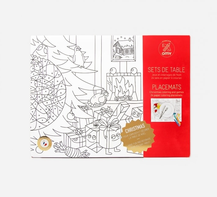 OMY COLORING PLACEMATS- - CHRISTMAS - 30 x 40