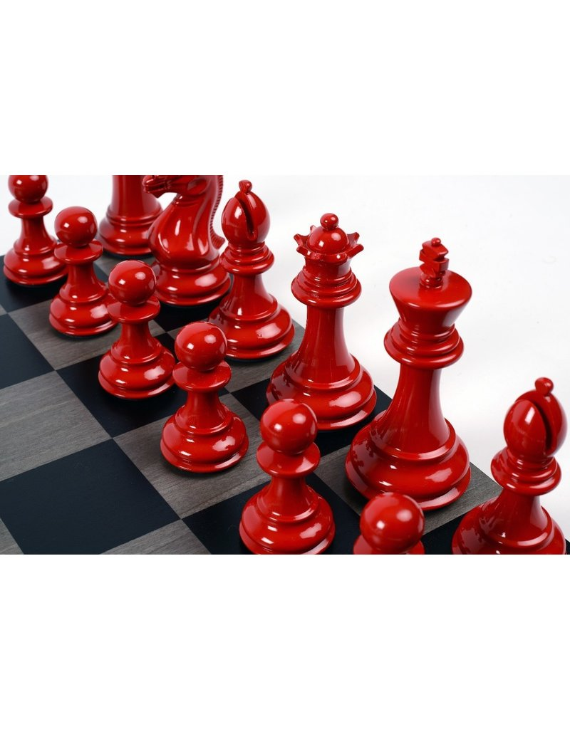 Purling London Purling London Bold Chess Grey Stained Maple : Classic Red v. Shadow Black