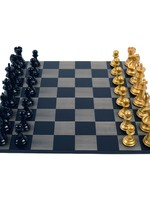 Purling London Purling London Bold Chess Grey Stained Maple : Metallic Gold v. Shadow Black