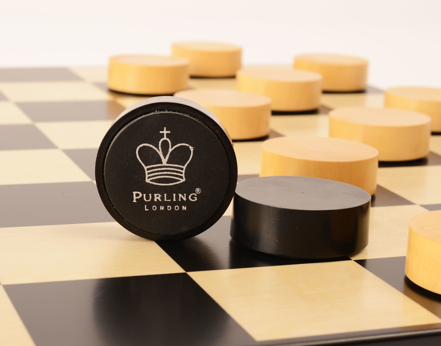 Purling London Checkers pieces upgrade Gold Black