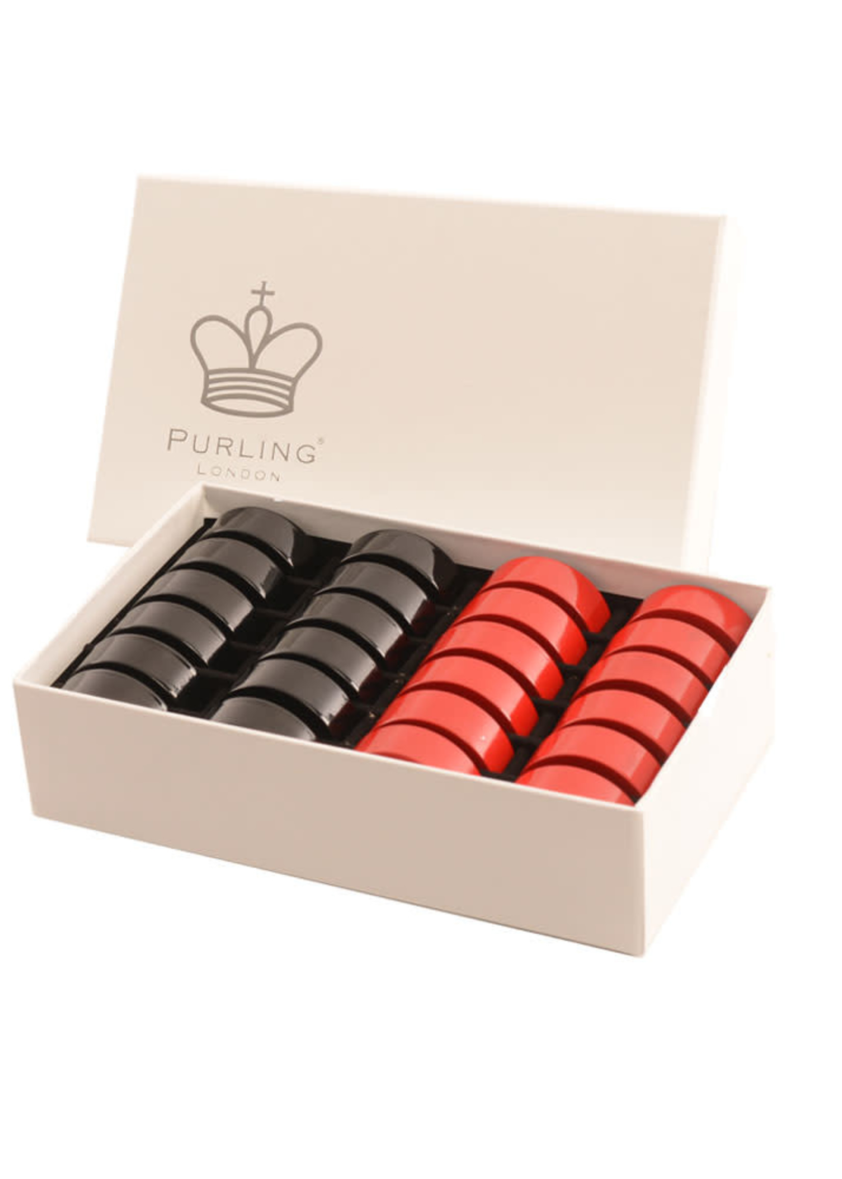 Purling London Purling London Bold Checkers Natural Maple: Classic Red v. Shadow Black