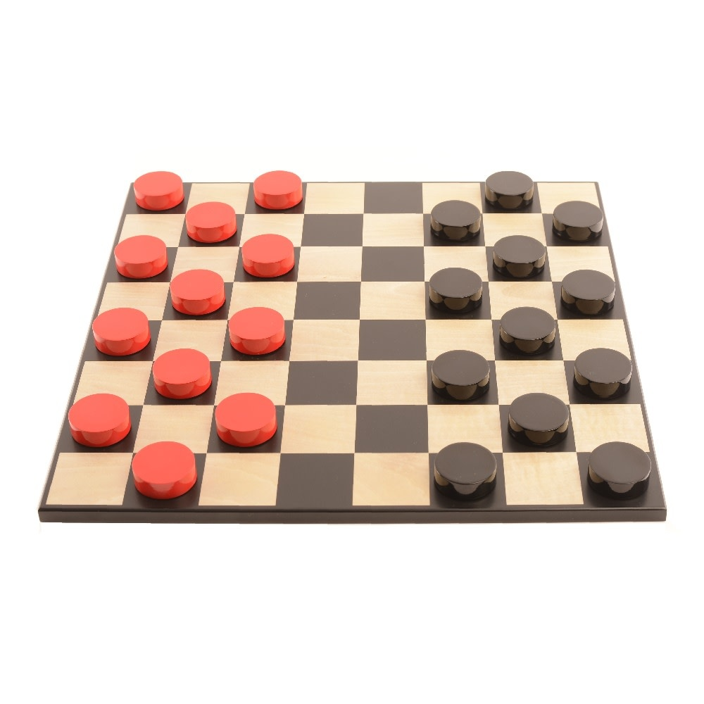 Purling London Bold Checkers Natural Maple: Classic Red v. Shadow Black