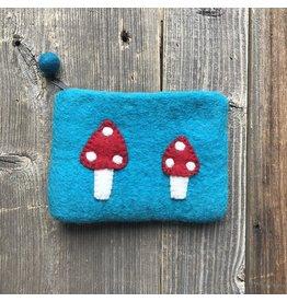 All Things Felt All Things Felt Small Mushroom Coin Purse