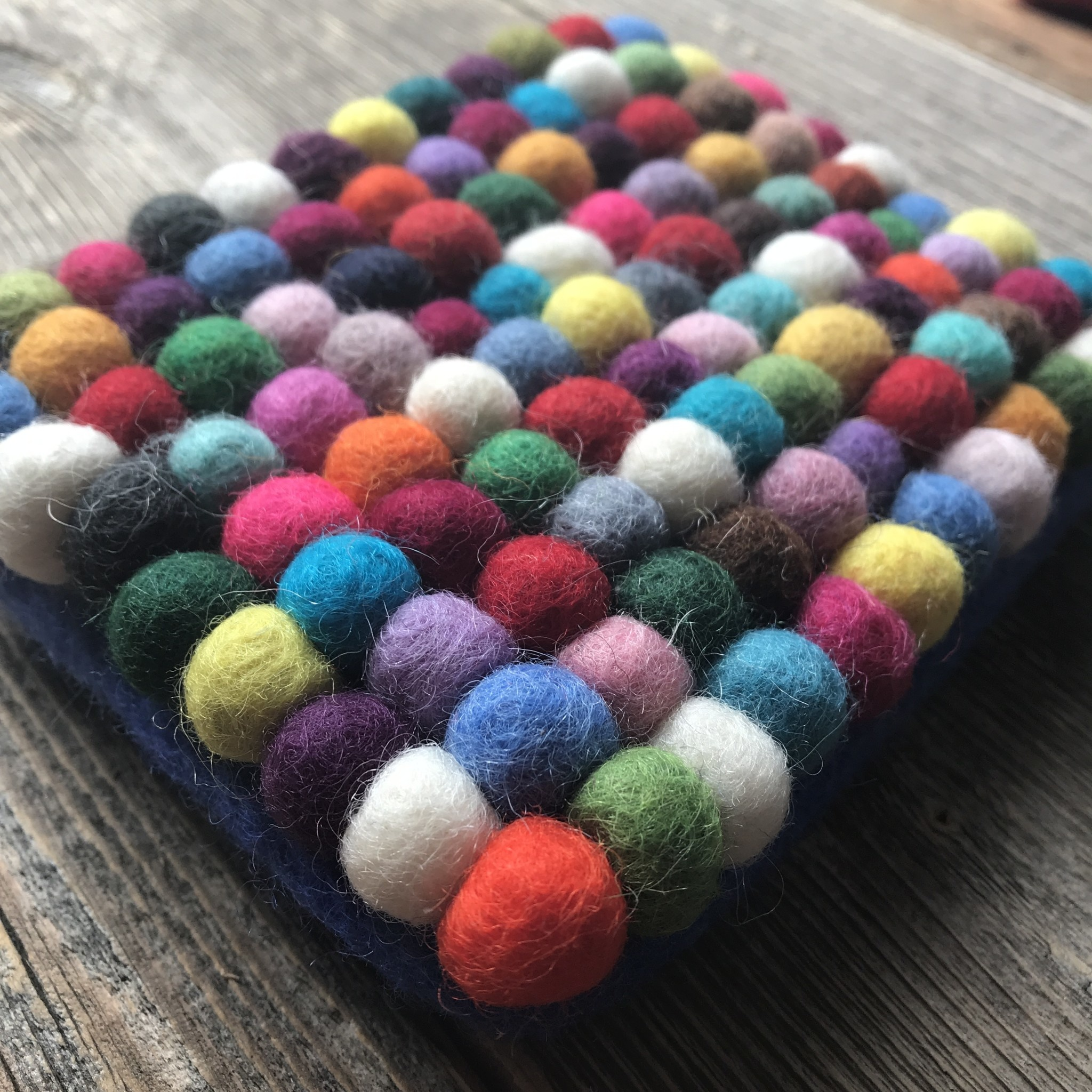 All Things Felt Small Ball Coin Purse