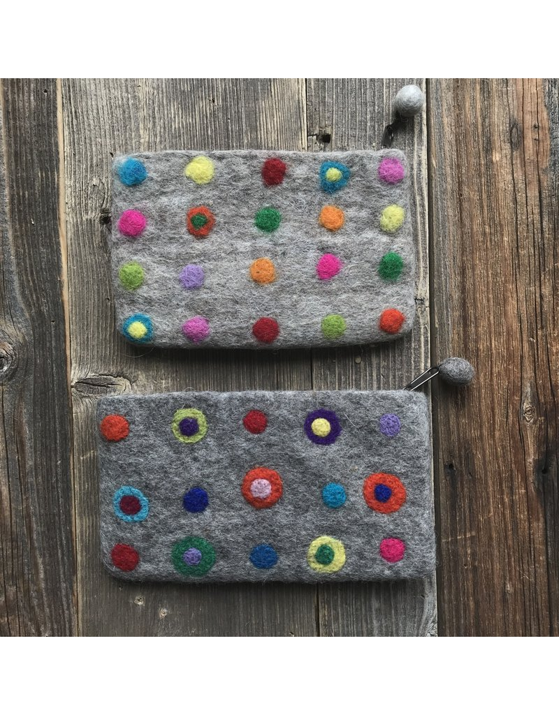 All Things Felt All Things Felt Polka Dots Coin Purse
