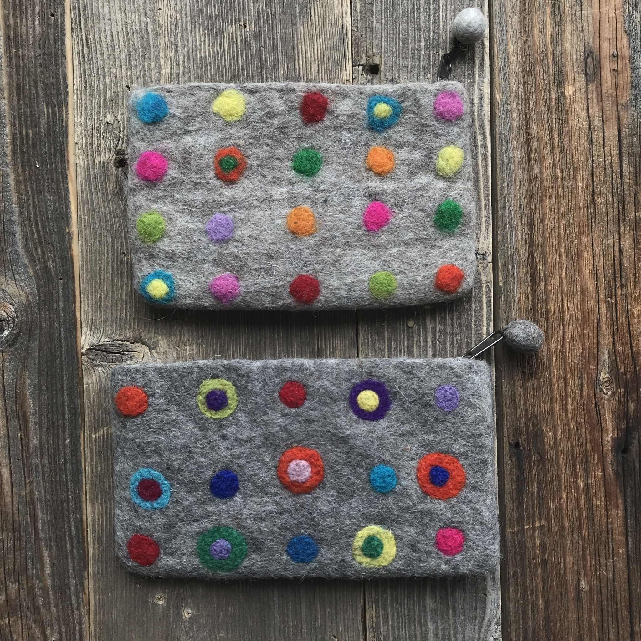All Things Felt Polka Dots Coin Purse