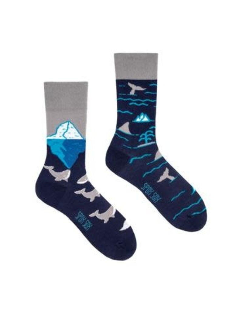 King Stone King Stone Socks Arctic Whales