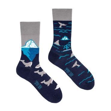 King Stone Socks Arctic Whales