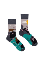 King Stone King Stone Socks Bear and Salmon