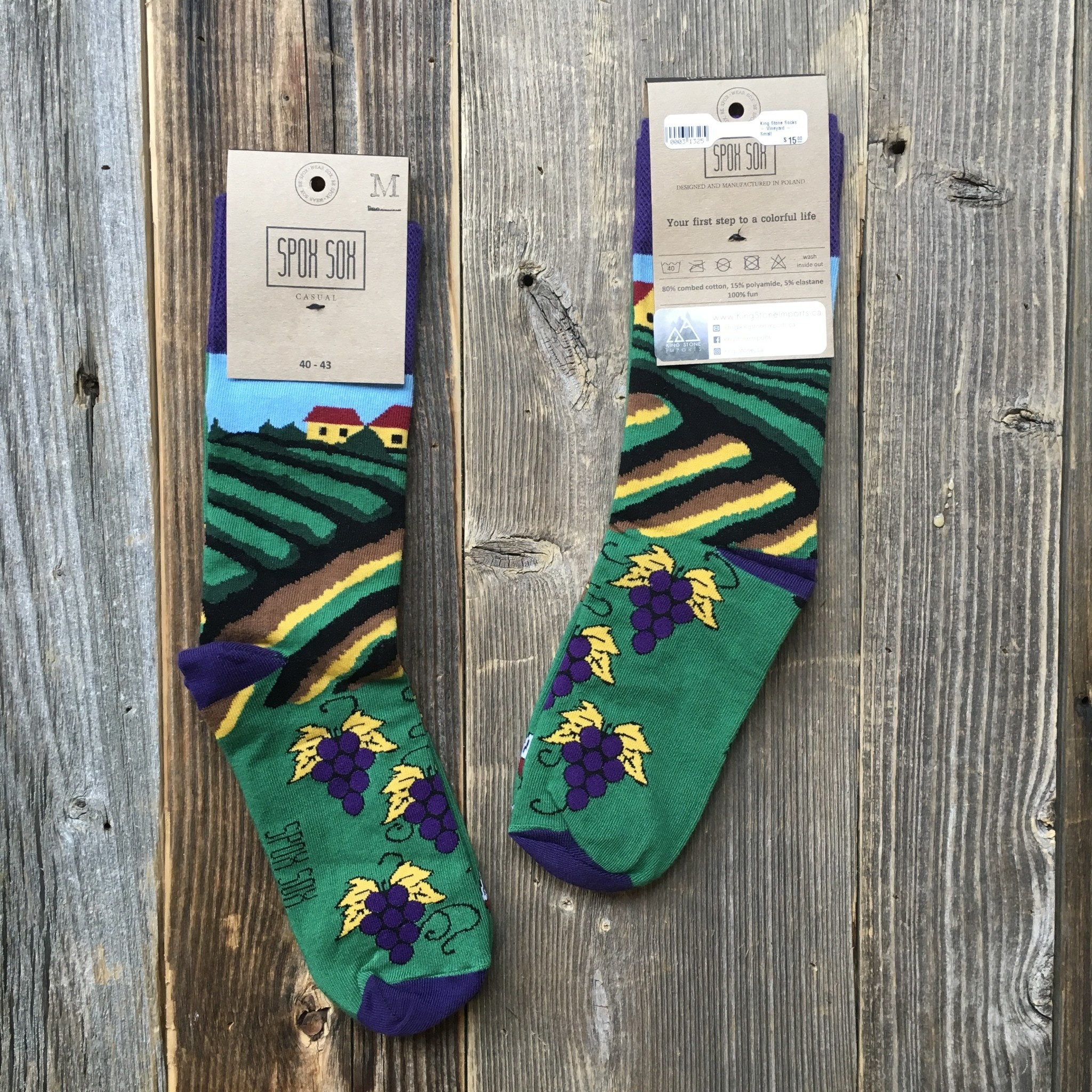 King Stone Socks Vineyard