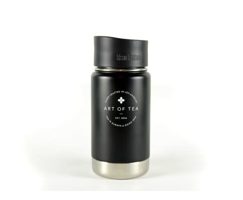 Art of Tea 12oz Kanteen- Matte Black with Art of Tea Logo