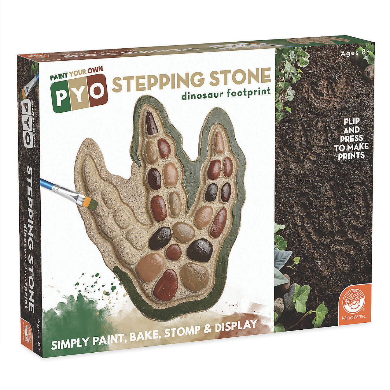 Mindware Paint Your Own Stepping Stone: Dinosaur