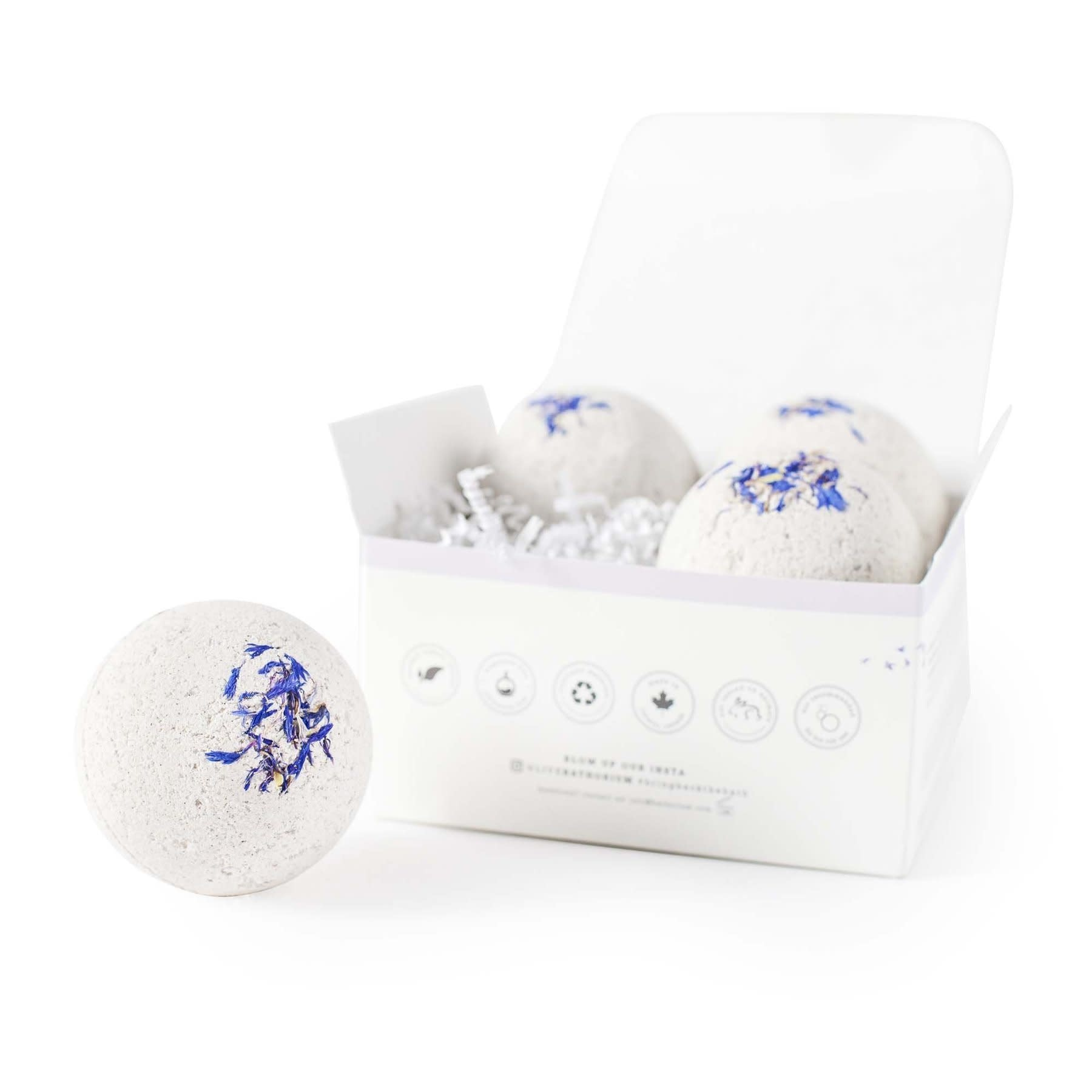 Bathorium Bath Bomb Snooze Bomb - Four Pack