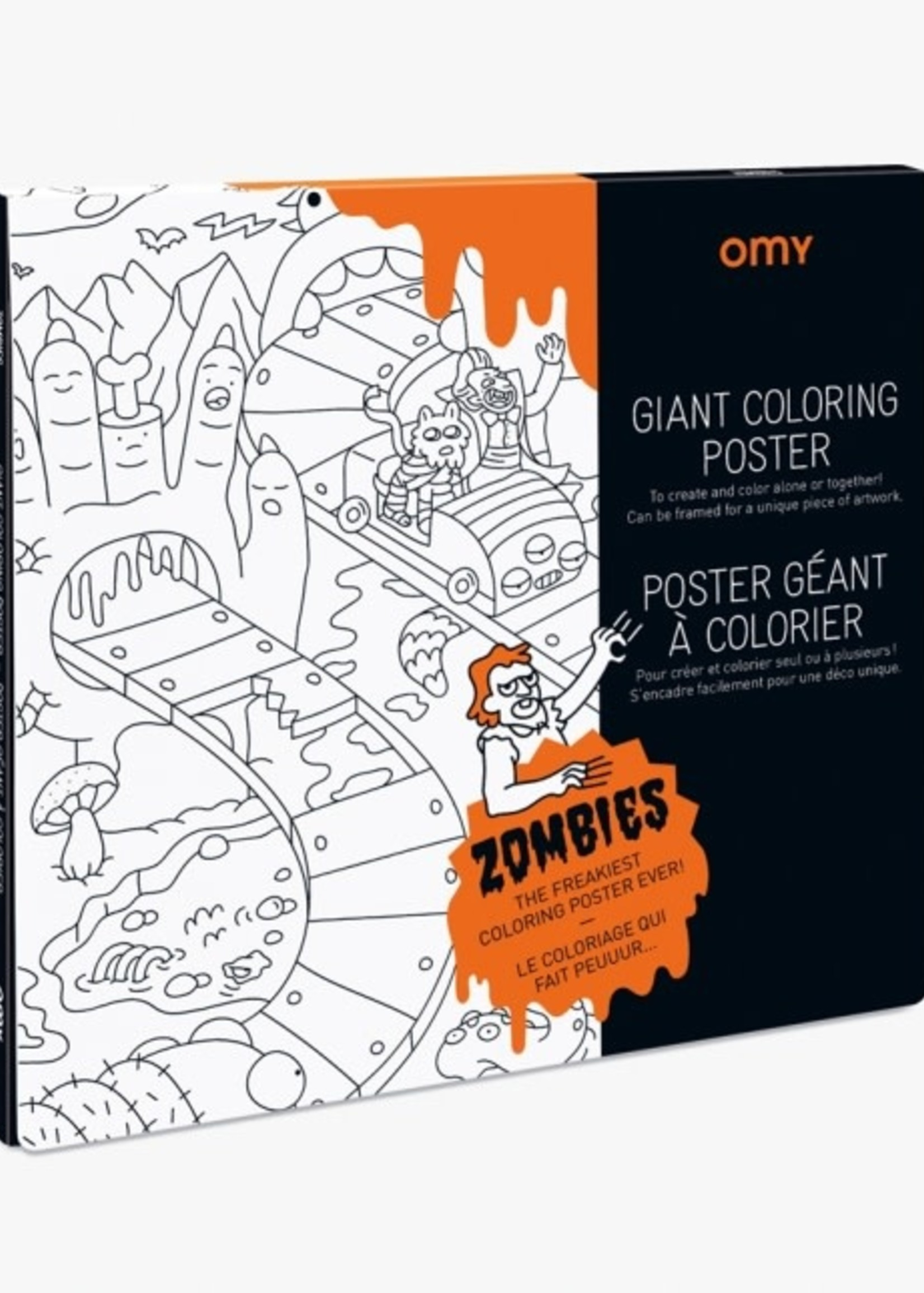 OMY OMY Giant Coloring Poster Zombies