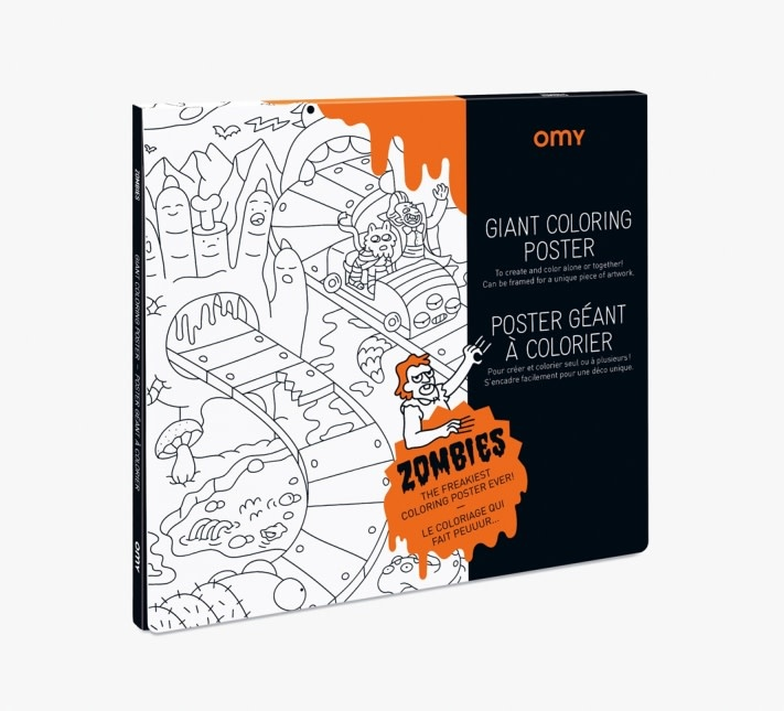 OMY Giant Coloring Poster Zombies