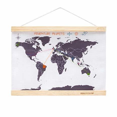 Suck UK Stitch World Map