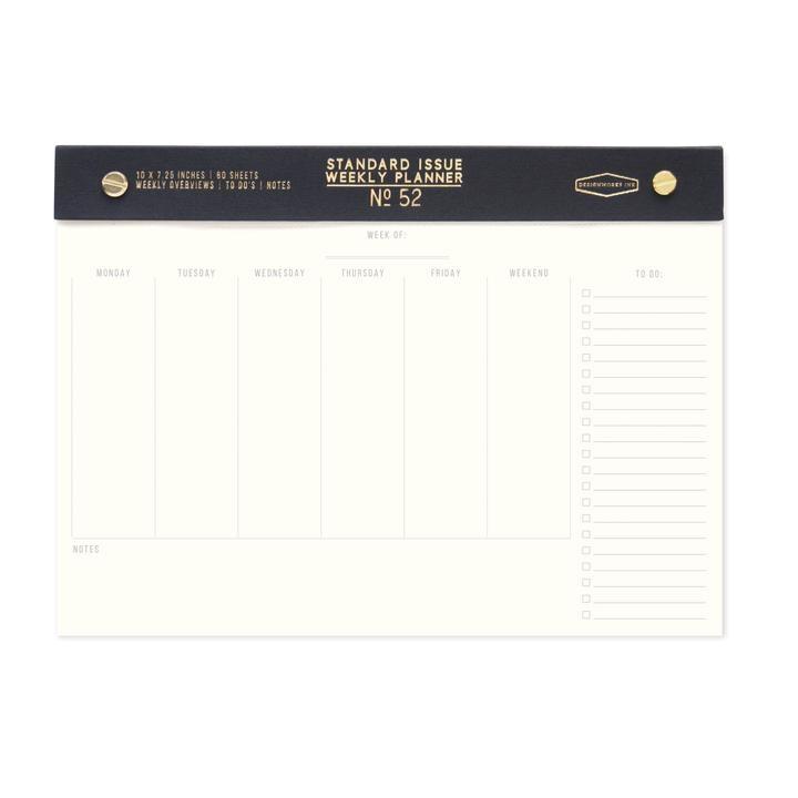 Designworks: Standard Issue Black Weekly Planner Desk Pad
