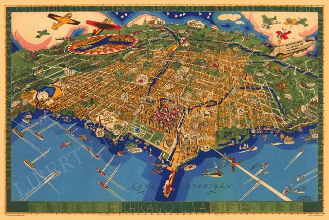 Liberty Puzzles Map of Chicago