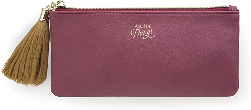 "Designworks: Vegan Leather Pencil Case ""All The Things"""
