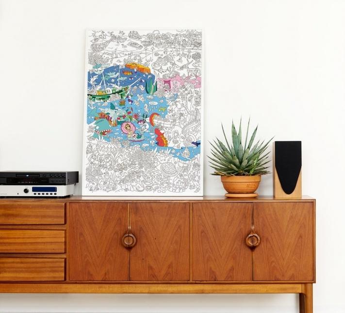 OMY Coloring Poster Ocean