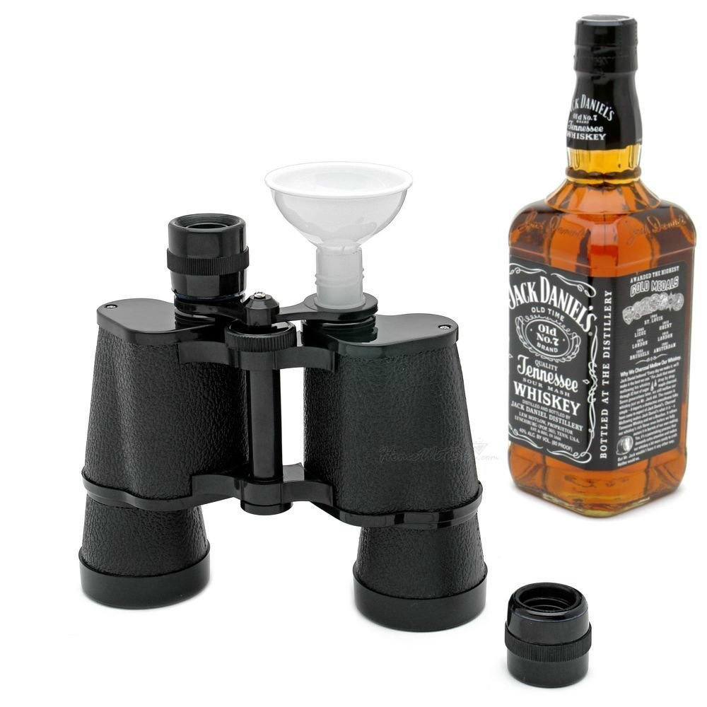 Smuggle Your Booze Binoculars Flask