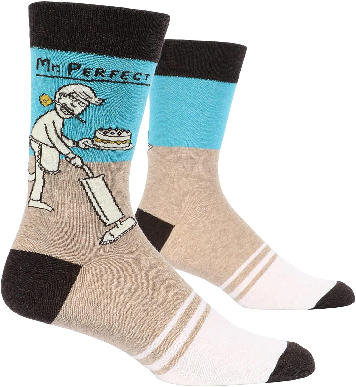 Blue Q Men's Socks Mr. Perfect