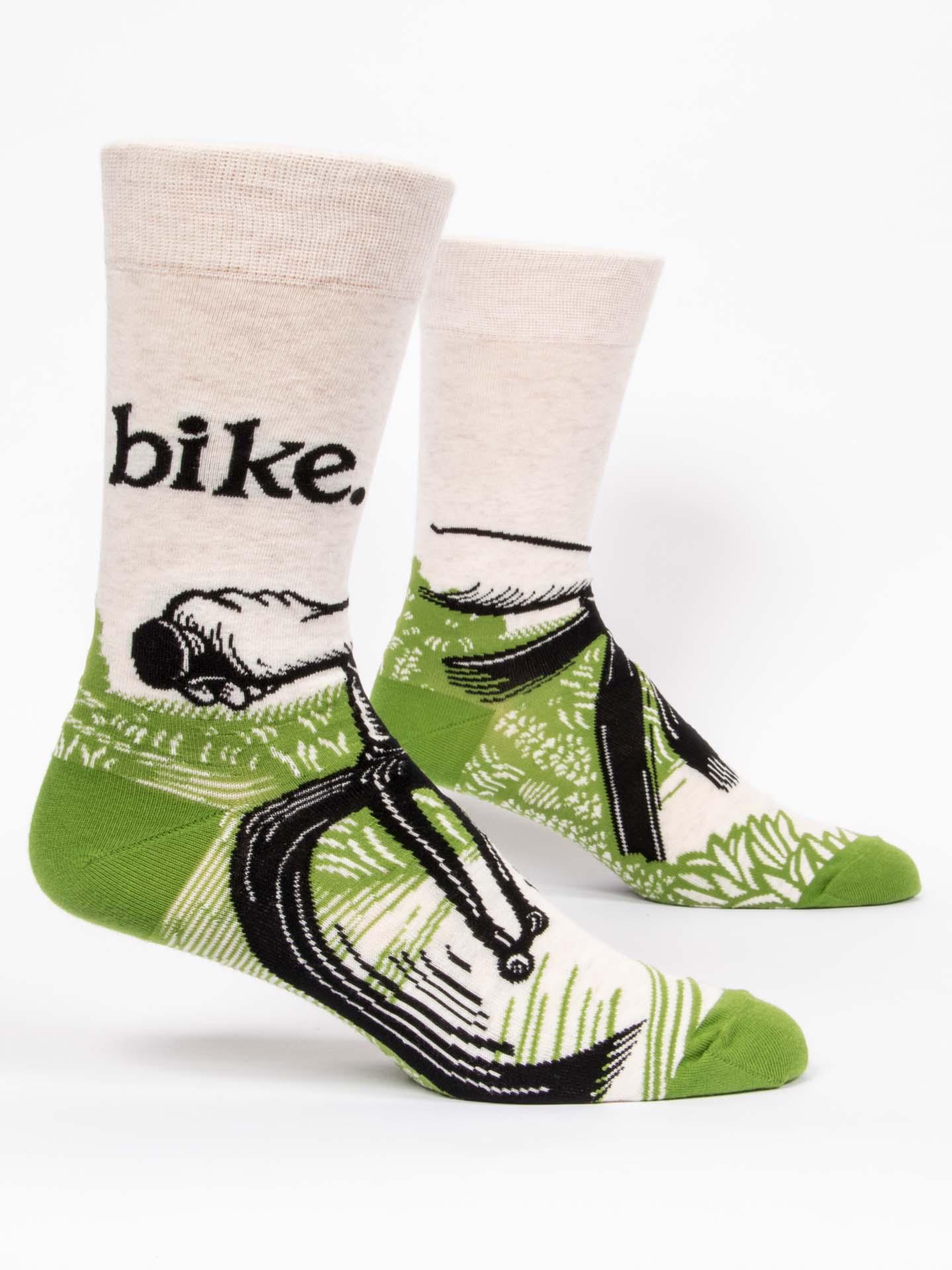 Blue Q Men's Socks Bike Path