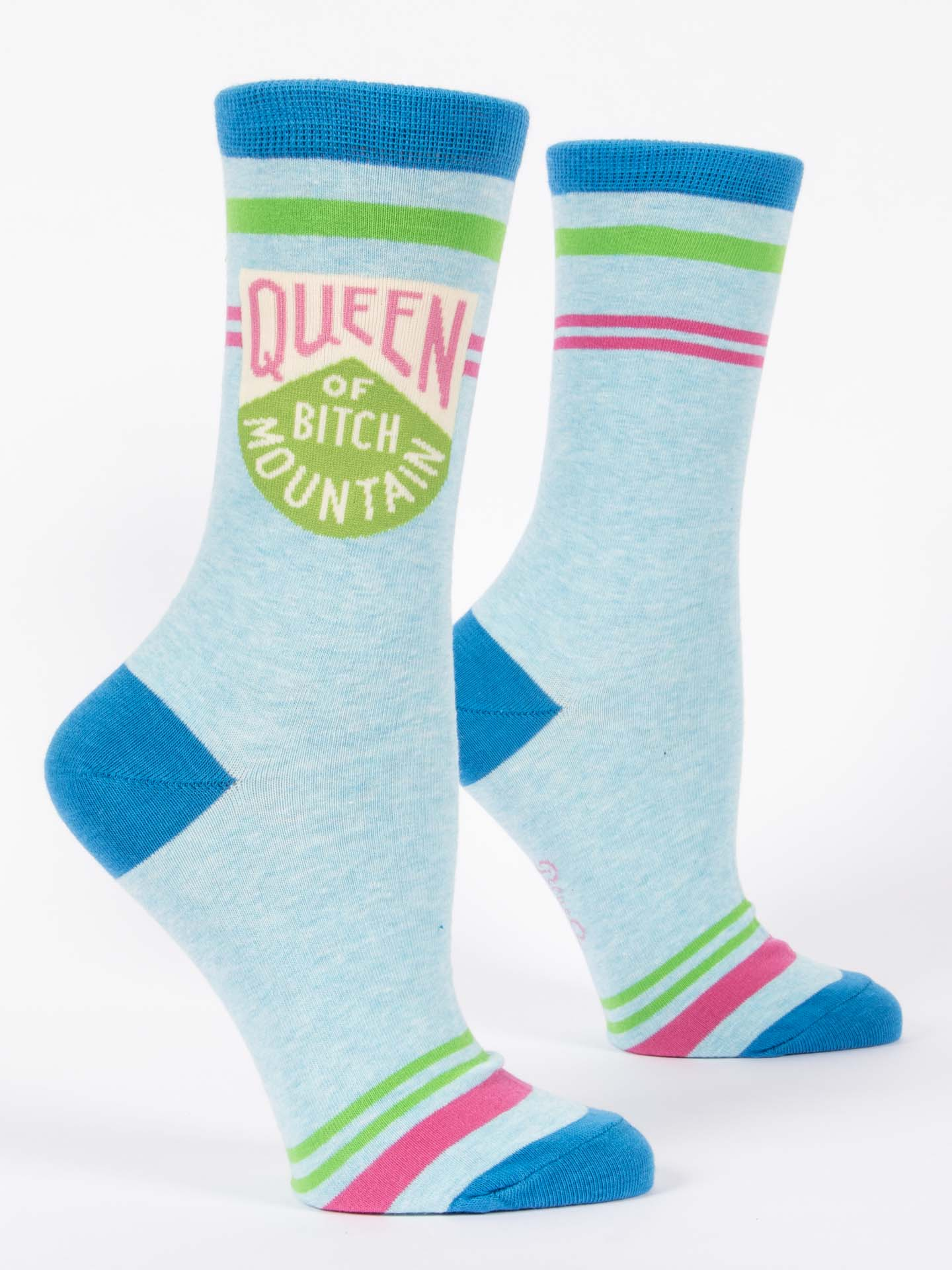 Blue Q Women's Socks Queen Of Bitch Mountain