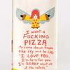 Blue Q Dish Towel Fucking Pizza