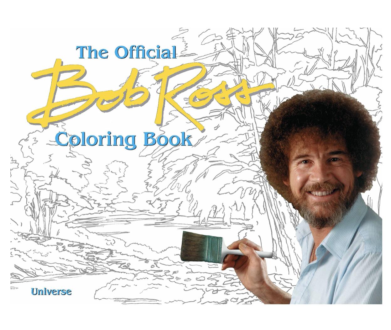 Bob Ross Colouring Book