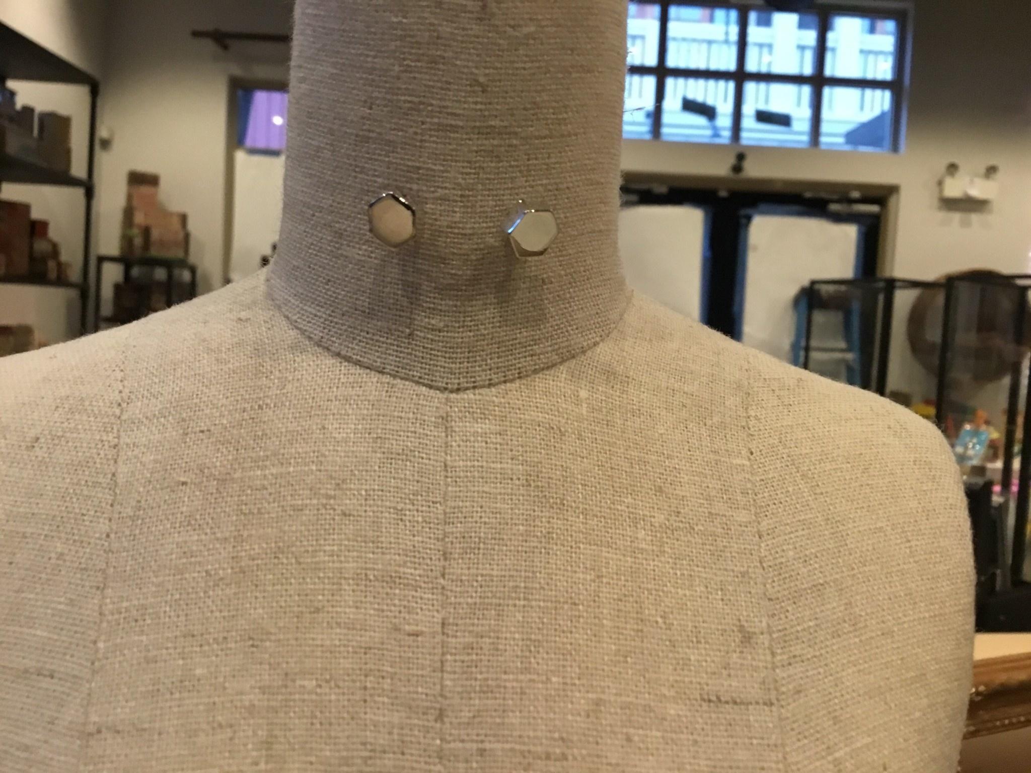 Covenant Hex Earrings Silver
