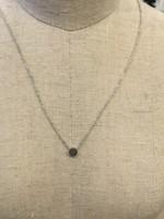 Covenant Covenant Mini Round Necklace 14kt White Gold
