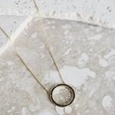 Joya Joya Deco Diamond Circle Necklace Black