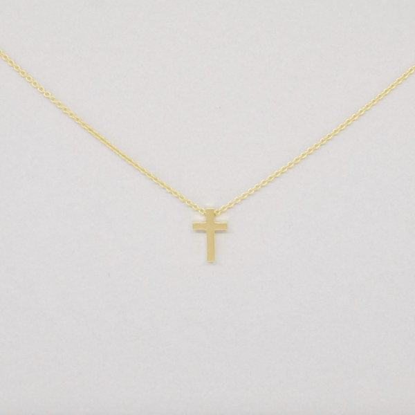Covenant Covenant Cross Necklace 14kt Yellow Gold