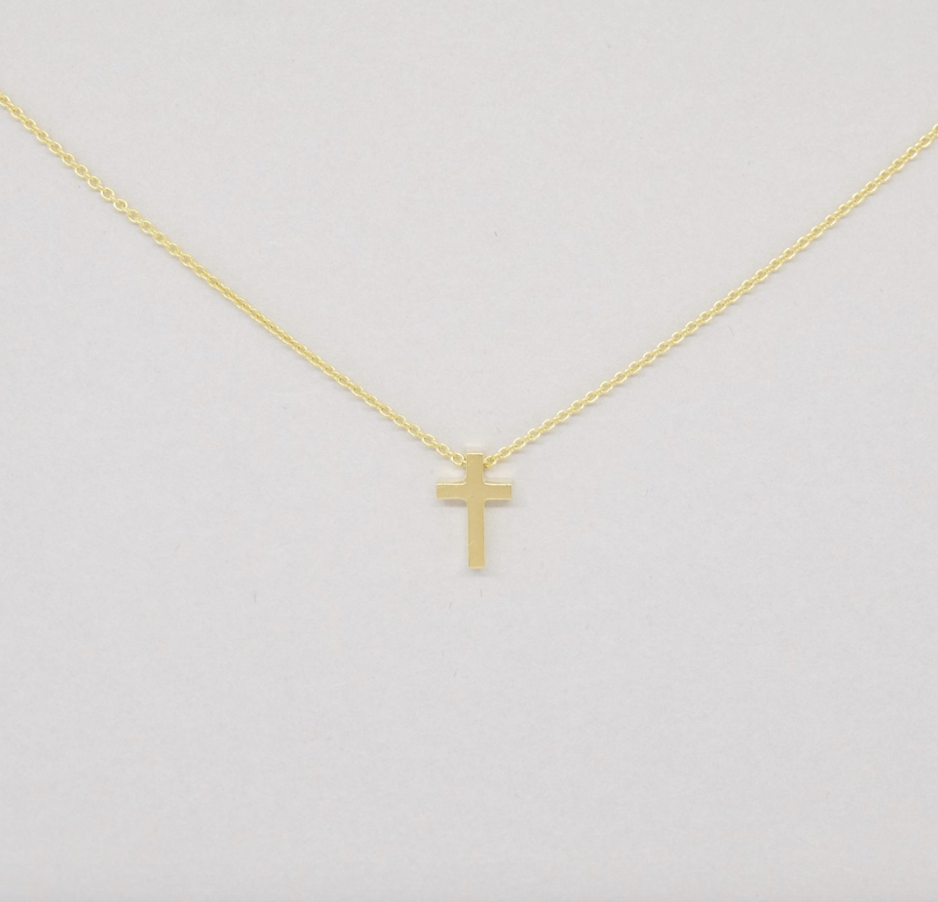Covenant Cross Necklace 14kt Yellow Gold