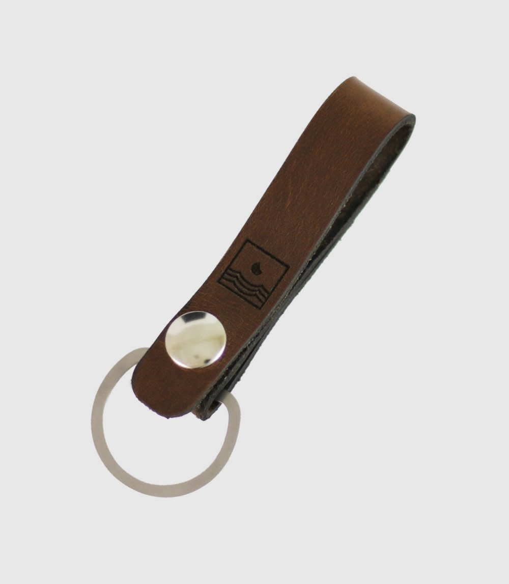 Zootility Chestnut Crescent Key Leather