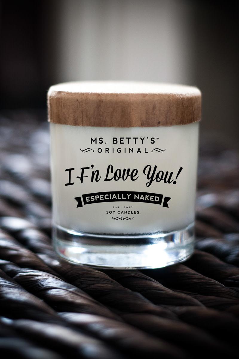 Badass Candle I F'n Love You