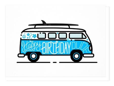 Wilder Happy Birthday Dude - Blue