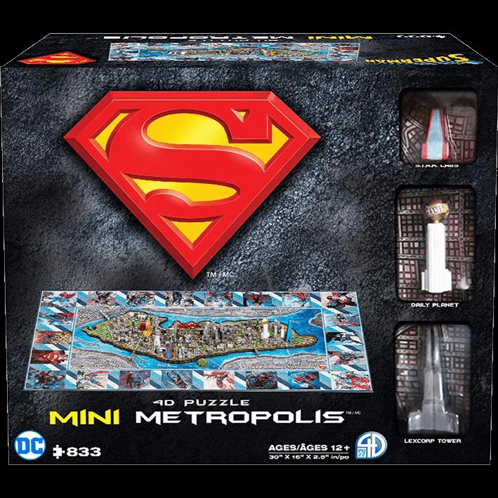 4D Cityscape Puzzles - Mini Metropolis - Superman